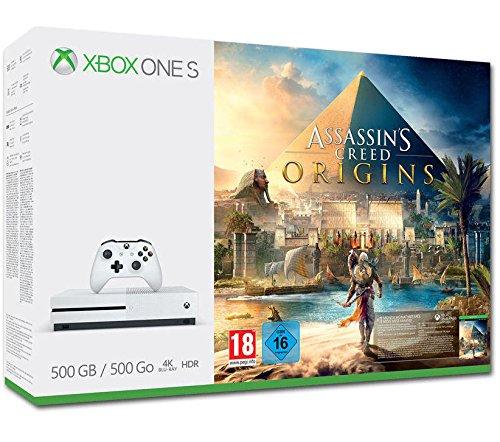 Xbox One S 500GB Console + Assassin's Creed Origins voor €169 @ Amazon.de