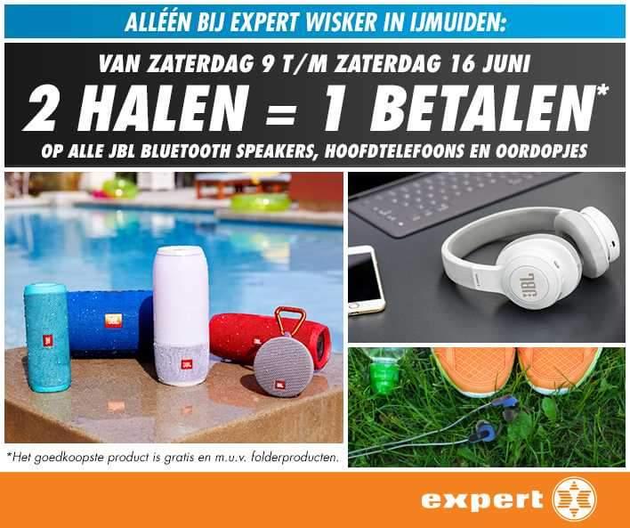 Expert IJmuiden JBL audio apparatuur 2 halen = 1 betalen