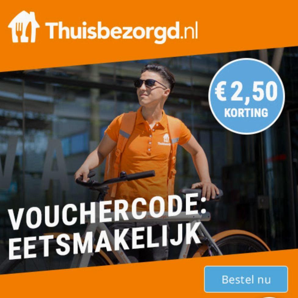 €2,50 korting bij Thuisbezorgd.nl