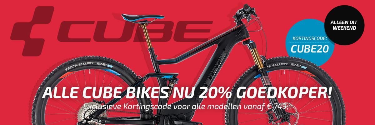 20% korting op alle CUBE fietsen vanaf €749 @ Bikester