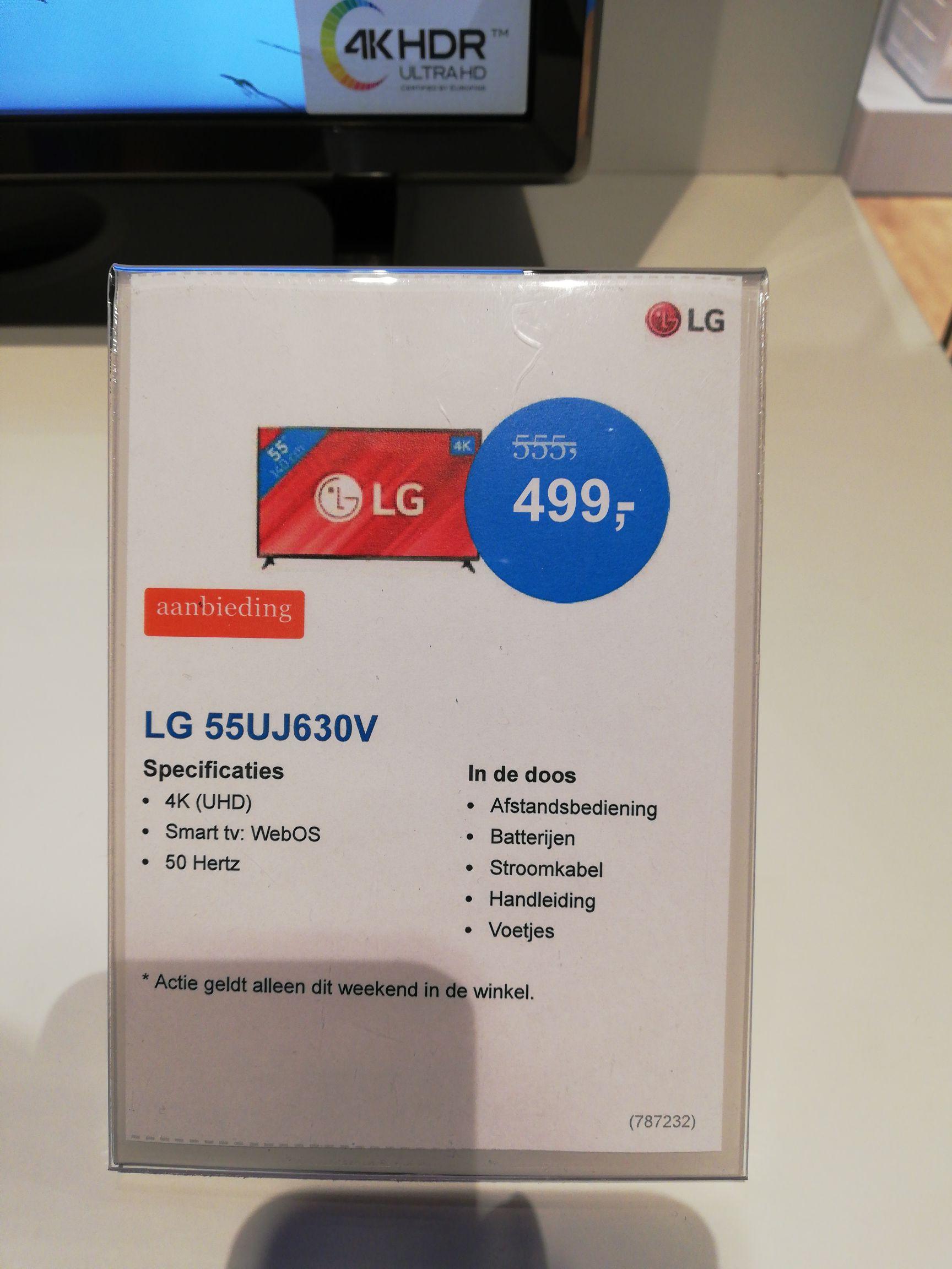 LG 55UJ630V 55 inch 4k Smart tv voor 499 bij Coolblue Den Haag