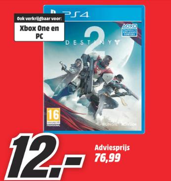 Destiny 2 PC/XBOX/PS4 voor €12