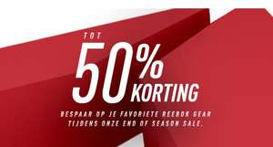 End of season sale @Reebok.nl