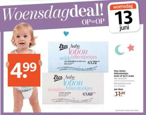 6-pack Baby lotion billendoekjes €4,99 @ Etos