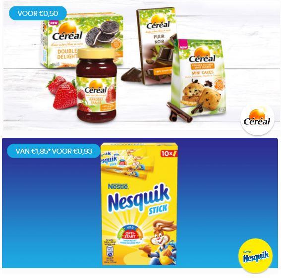 Deels geld terug: Céréal Suikerbewust en Nesquick Stick @ Scoupy