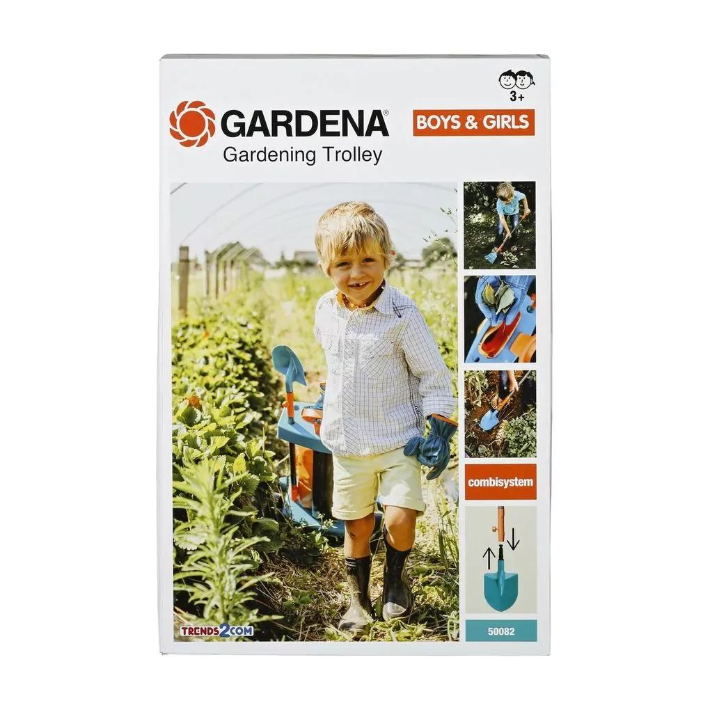 Laat je kind het werk doen in de tuin --> Gardena Kinder Tuintrolley met 50% korting