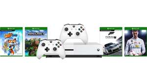 Xbox One Slim 1Tb, extra controller, Fifa 18, Forza 7, Minecraft, Sea of Thieves (code)
