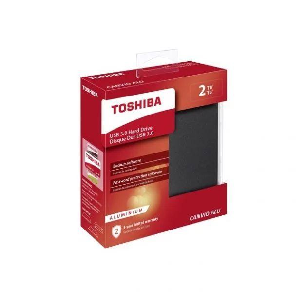 Toshiba Canvio Alu 2 Tb, USB 3.0, bij Expert