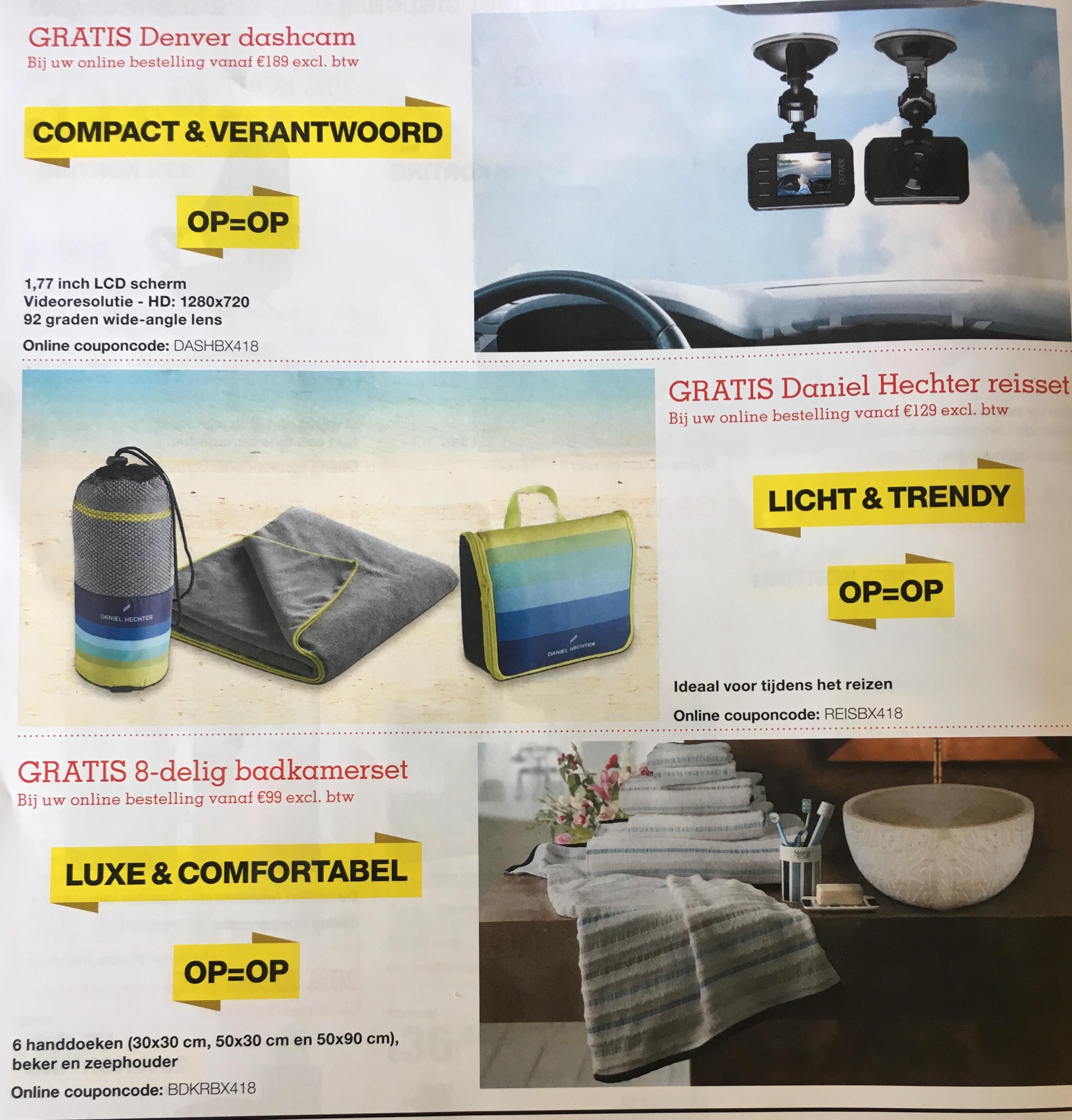 Online couponcode staples (Dashcam, Reisset en Badkamerset)