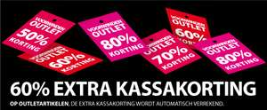 Outlet: 60% EXTRA korting @ Voorwinden