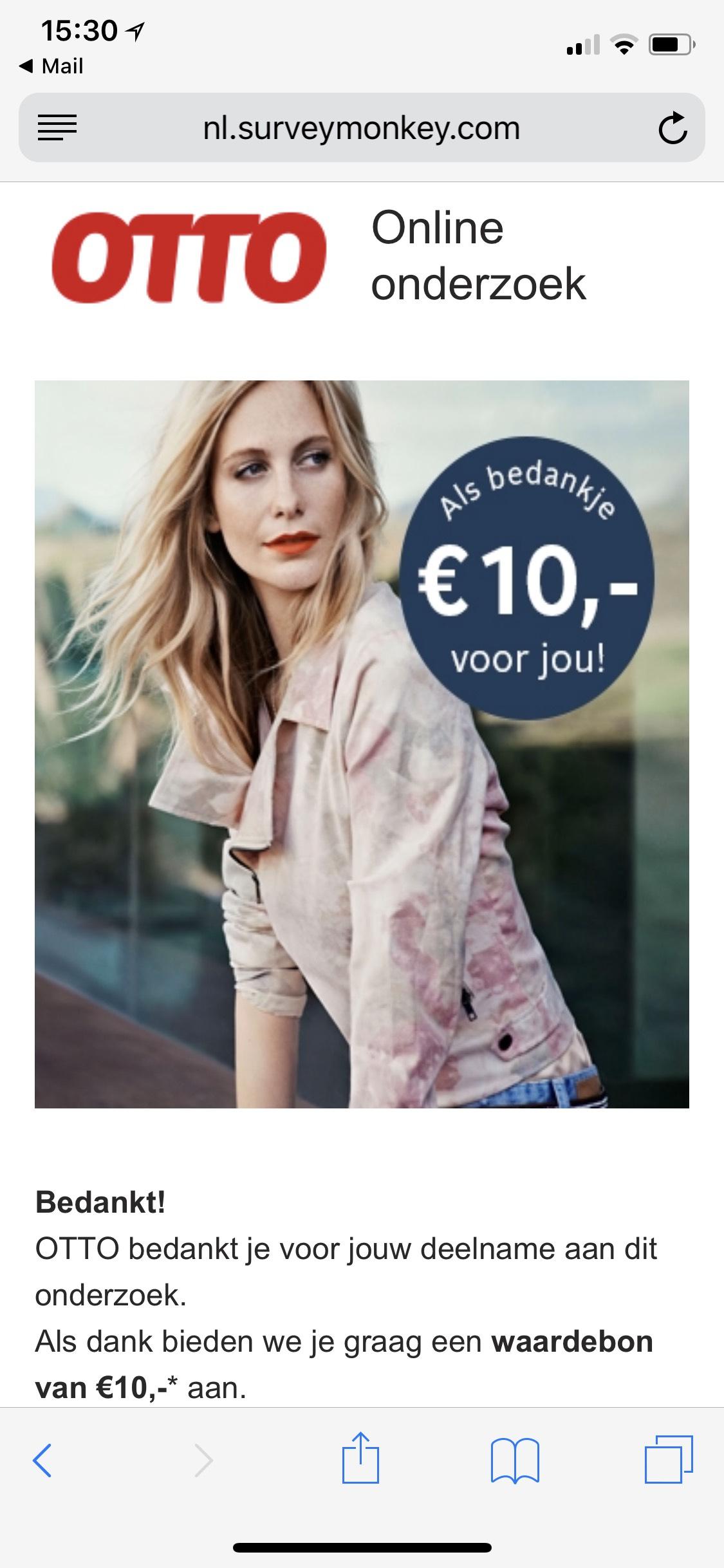 €10,- korting bij Otto