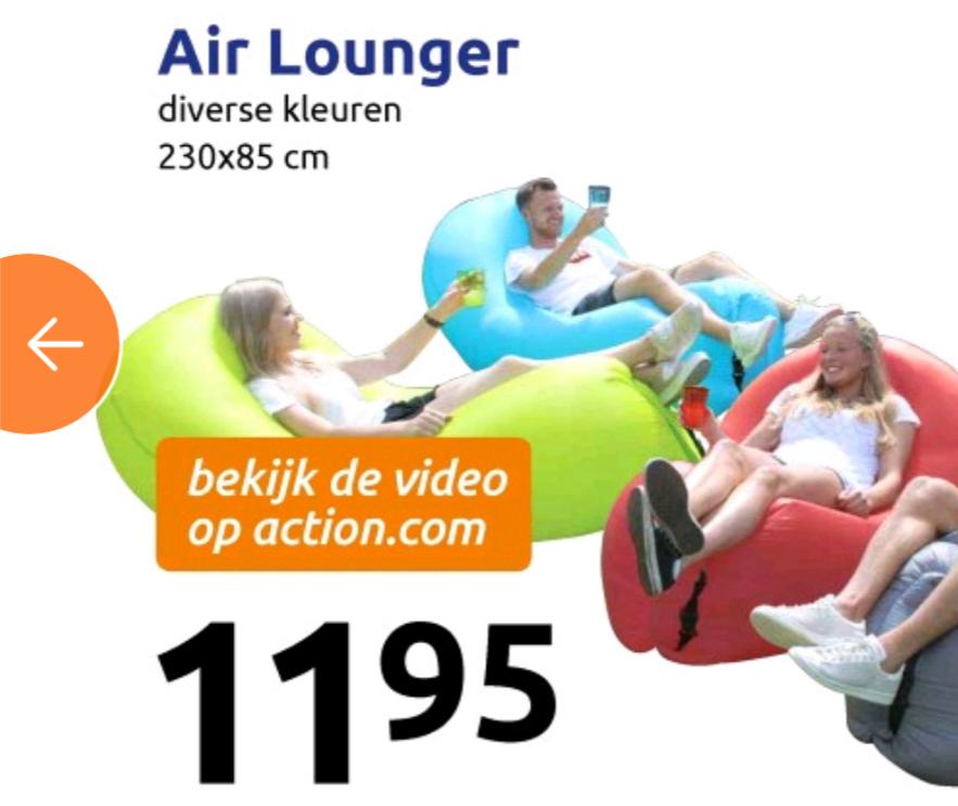 Vanaf morgen! Air lounger @action.