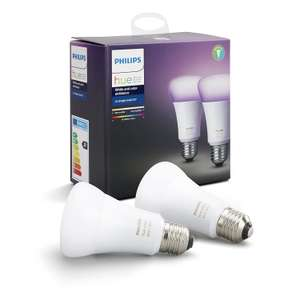 Philips hue White & Color Ambiance Led-lamp met E27-fitting DUO-pack @amazon.de