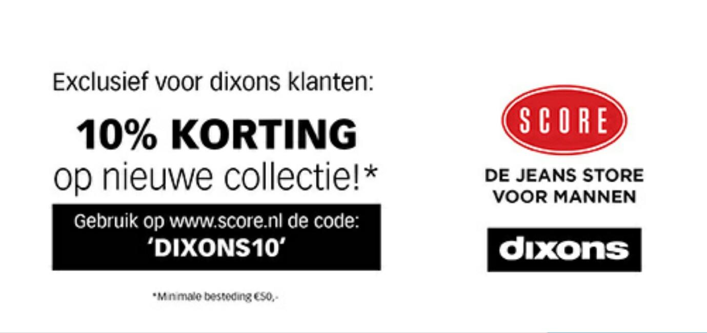 Kortingscode voor 10% korting @ Score