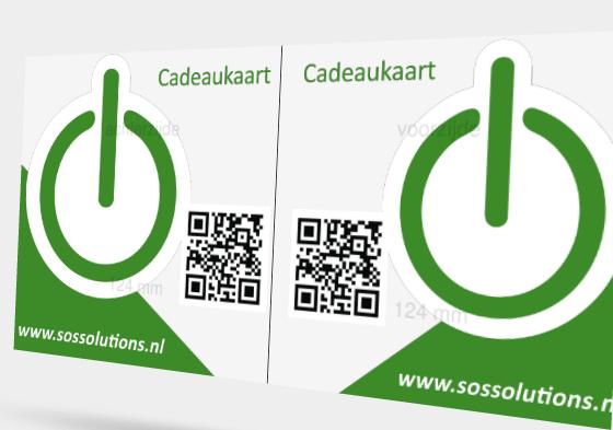 Cadeaukaart van €100 @ SOS Solutions
