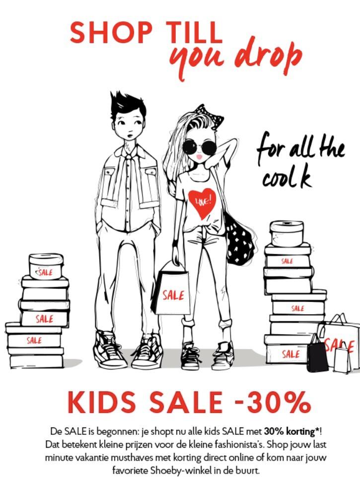 30% korting op alle kids kleding