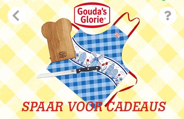 Broodmes, broodplank of keukenschort gratis bij aankoop 5 producten Gouda's Glorie