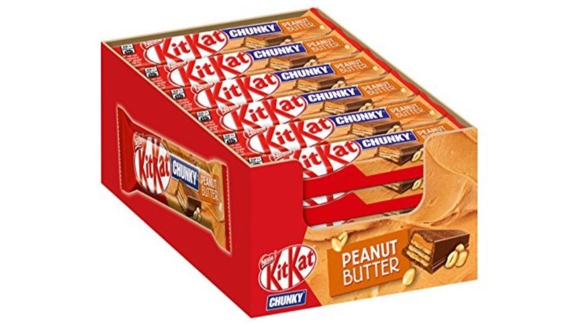 Nestle KitKat Chunky Peanut Butter chocoladerepen (Peanut Cream) 24-pack (24 x 42 g) grootverpakking