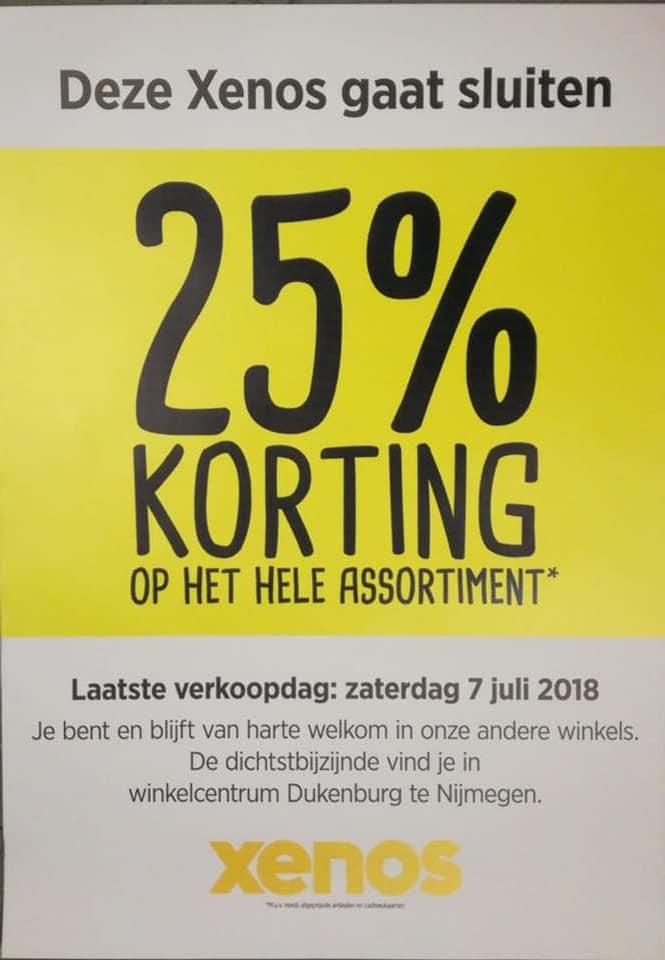 Xenos Nijmegen Molenpoort 25% korting gehele assortiment