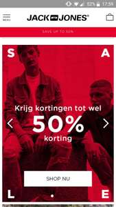 Sale tot 50 procent bij Jack and Jones