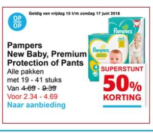 50% korting op Pampers New Baby, Premium Protection of Pants