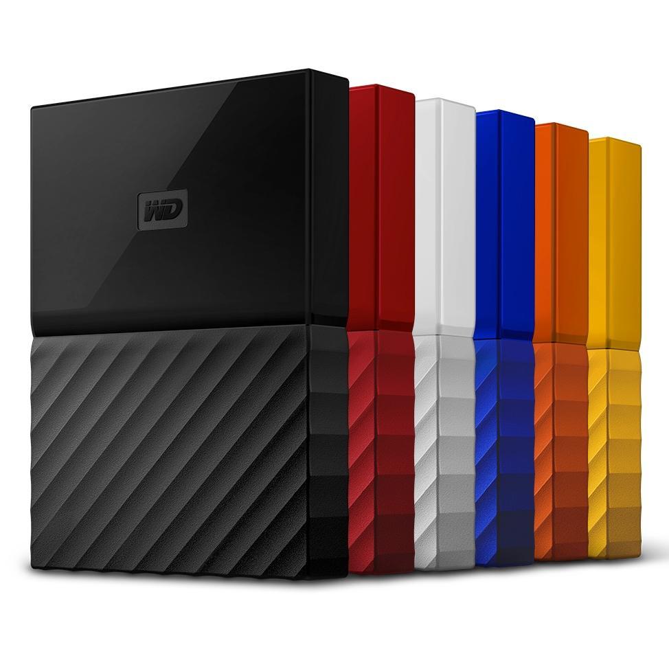 €34.99 voor  externe harde schijf Westen Digital MyPassport 1TB (recertified), €49,99 voor 2TB