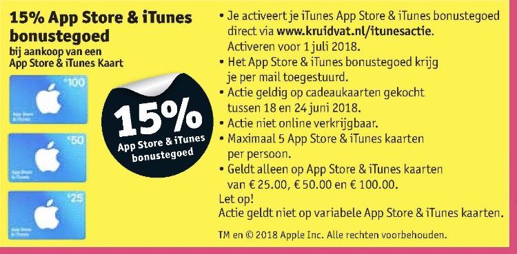 iTunes bonus tegoed