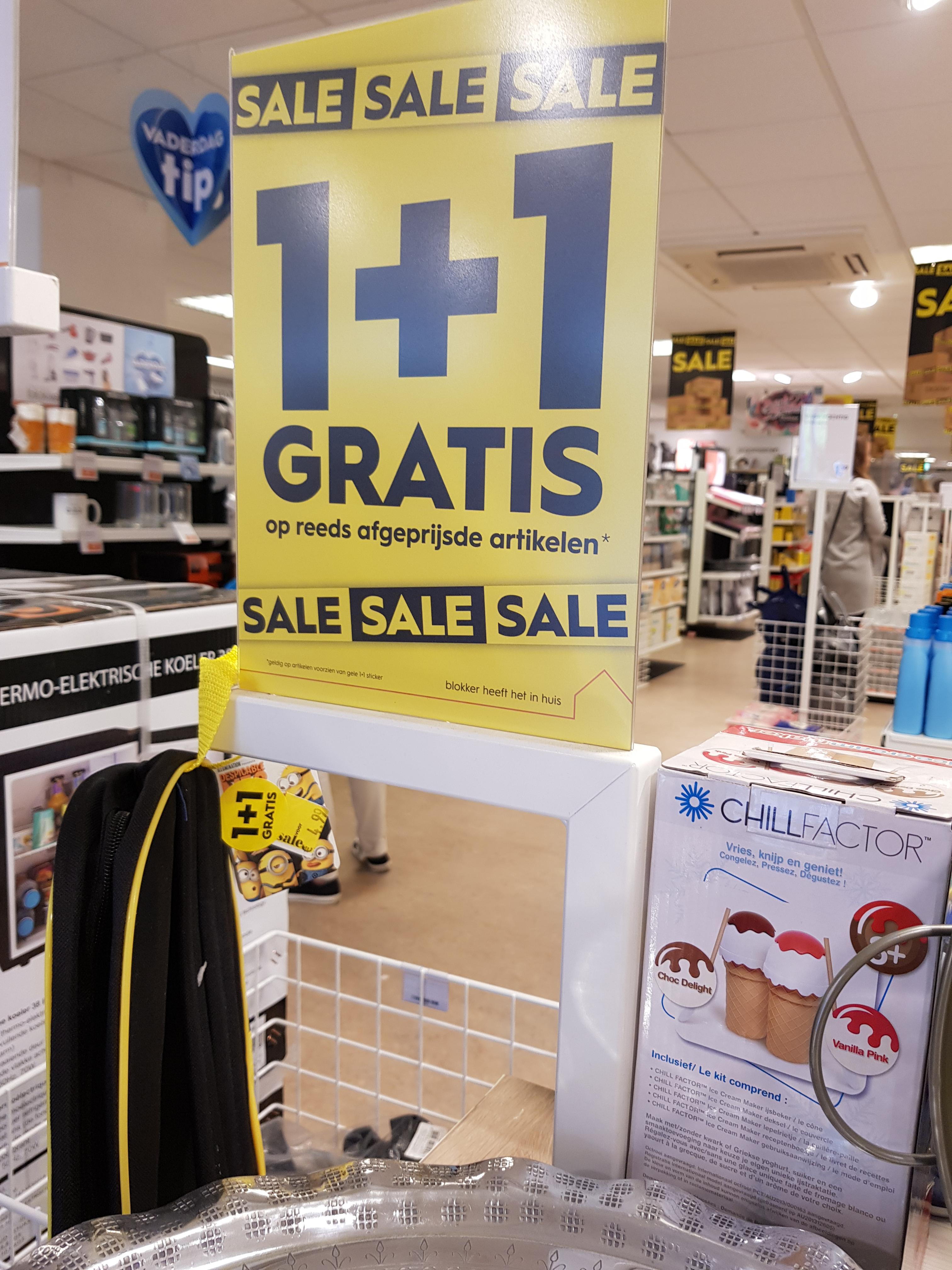 [NU OOK ONLINE] Diverse sale 1+1 GRATIS - in winkels 50% extra kassakorting @ Blokker