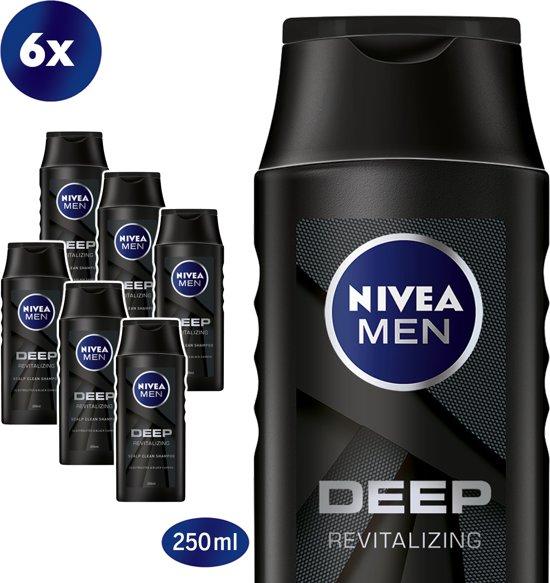 NIVEA MEN Deep Shampoo - 6 x 250 ml
