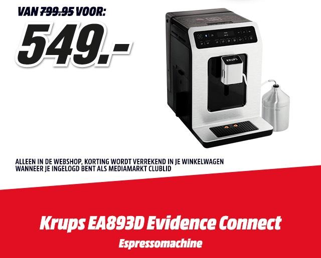 Alleen vandaag: Krups espressomachine van € 799,95 voor € 549,-