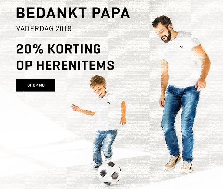 Vaderdagactie: 20% korting op alles voor heren - ook op sale @ Puma