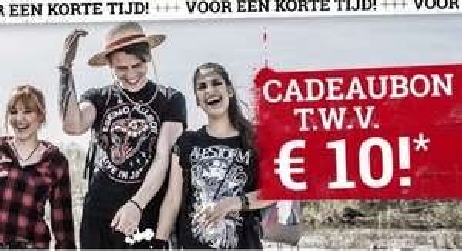 Shop nu bij LARGE met €10 korting!