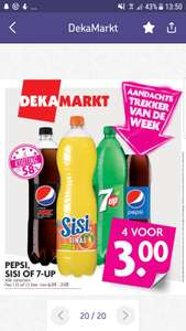 Pepsi, Sisi of 7UP 4 flessen voor 3 euro