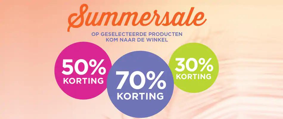 SUMMERSALE! TOT 70% KORTING OP GESELECTEERDE PRODUCTEN
