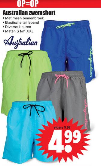 Australian heren swim shorts €4,99 @ Dirk / Dekamarkt