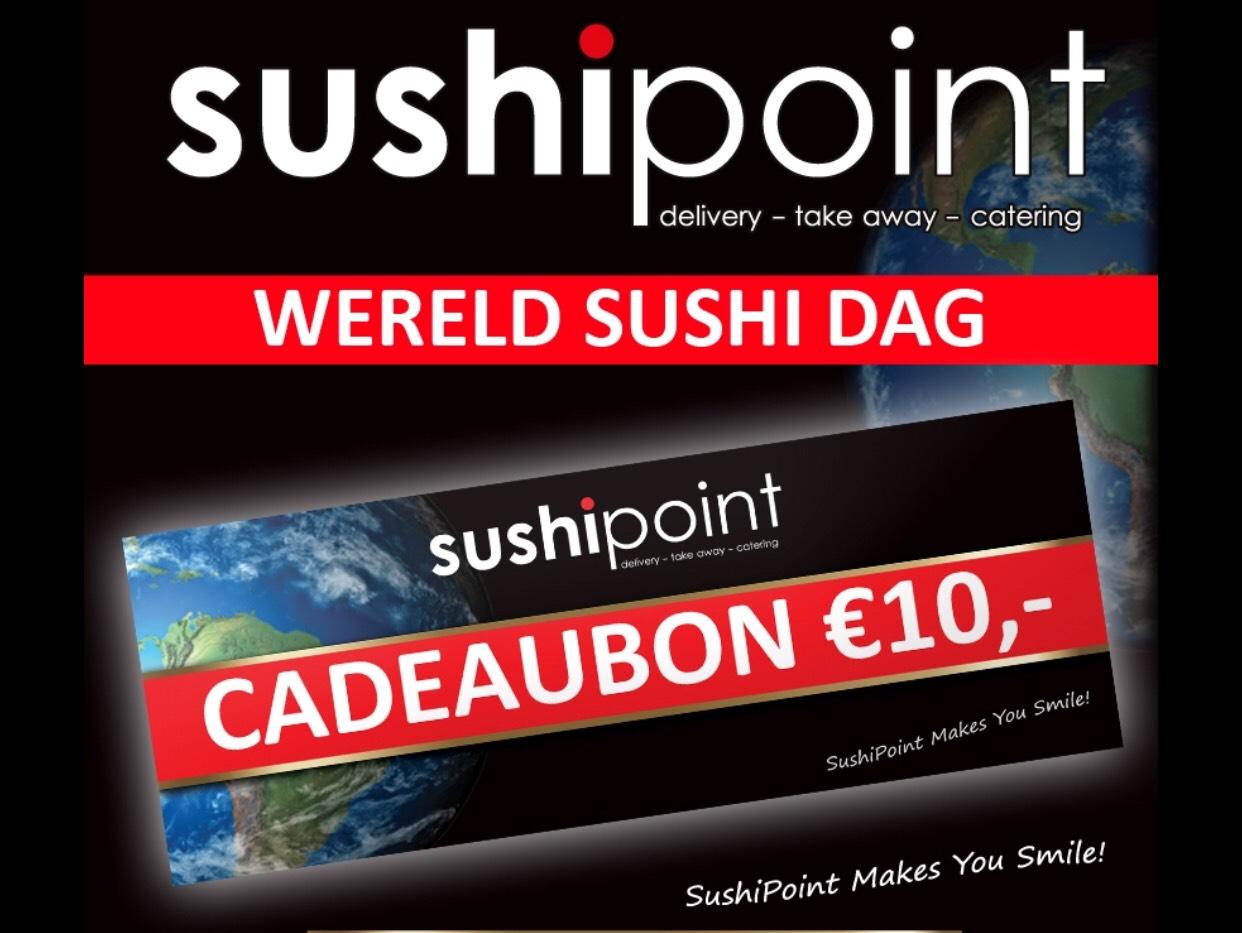 Tot 21 juni 10 euro korting op sushi!
