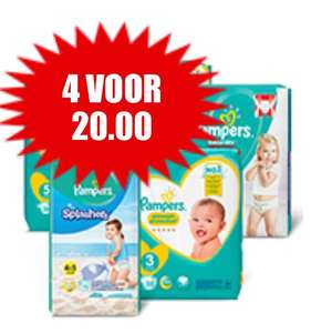 4 pakken Pampers Premium protection / New baby @Dirk