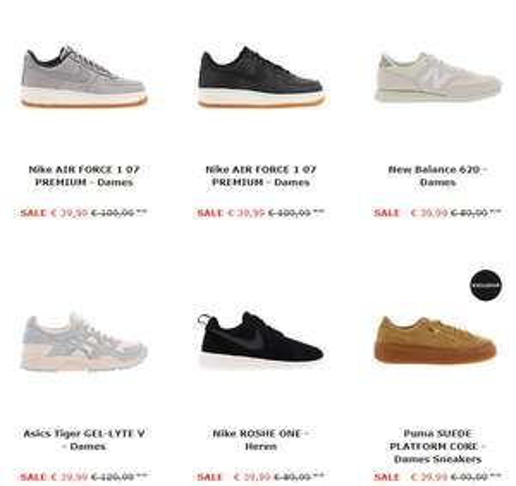Sneakersdeals - tot meer dan 70% korting - va €19,99 @ Sidestep