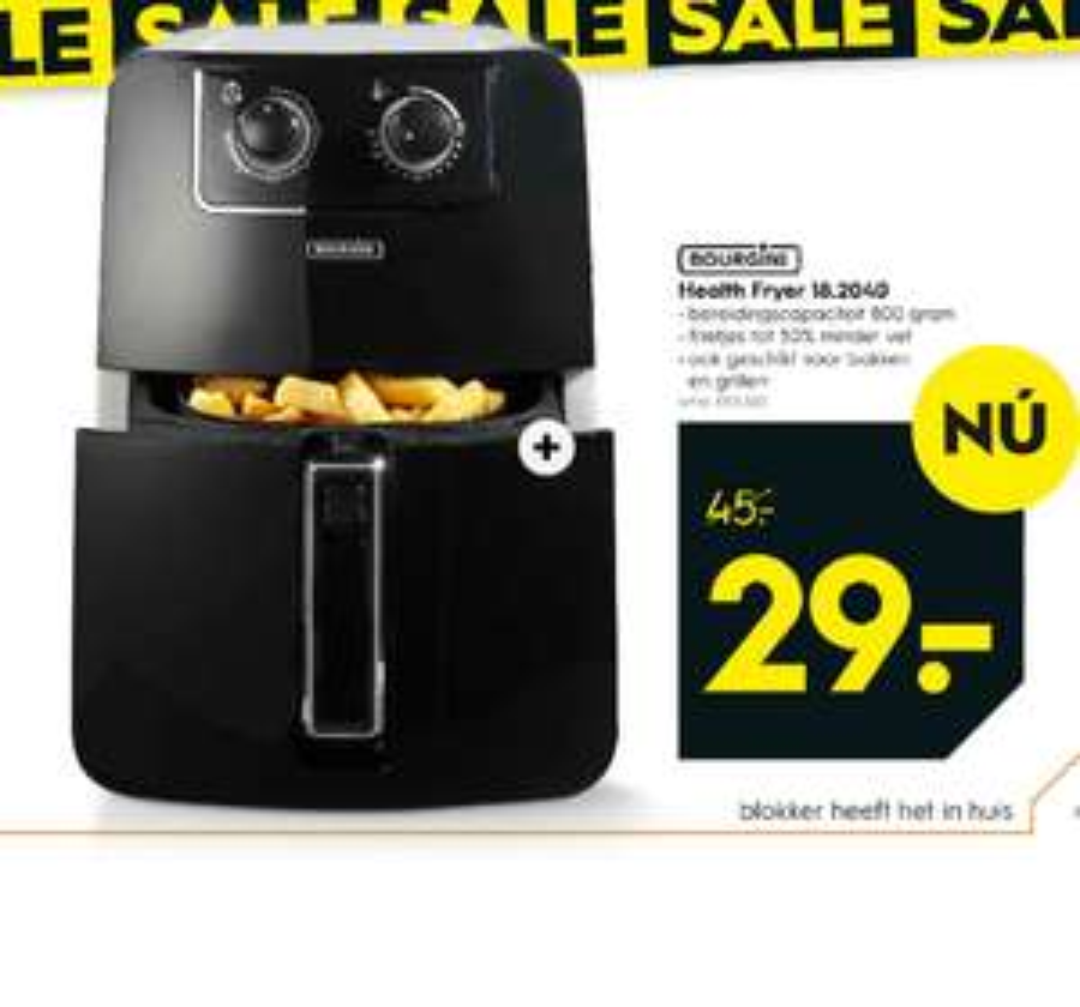 Bourgini Health Fryer voor €29 @ Blokker winkels