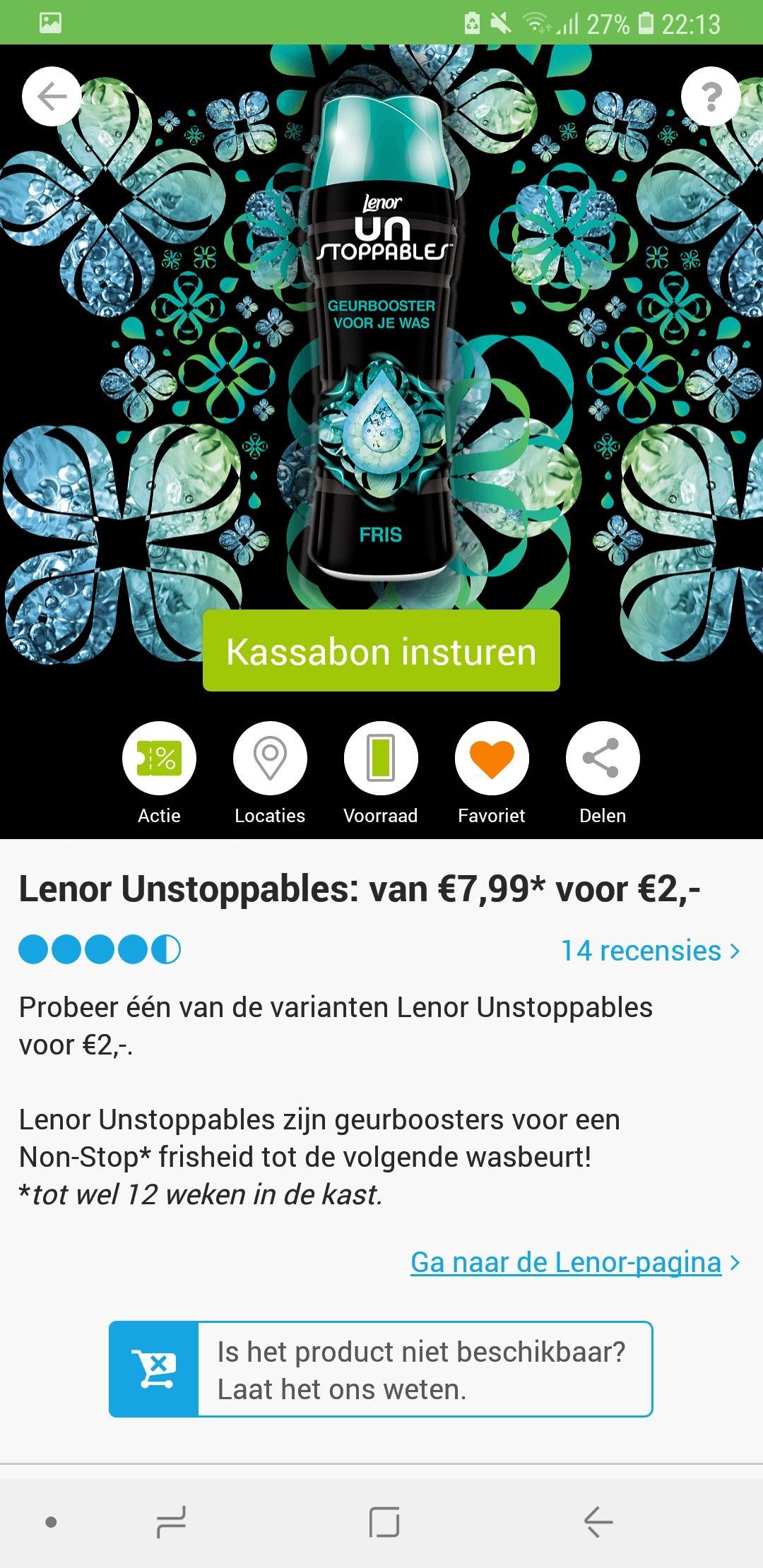 Lenor Unstoppables van €7.99* voor €2,-