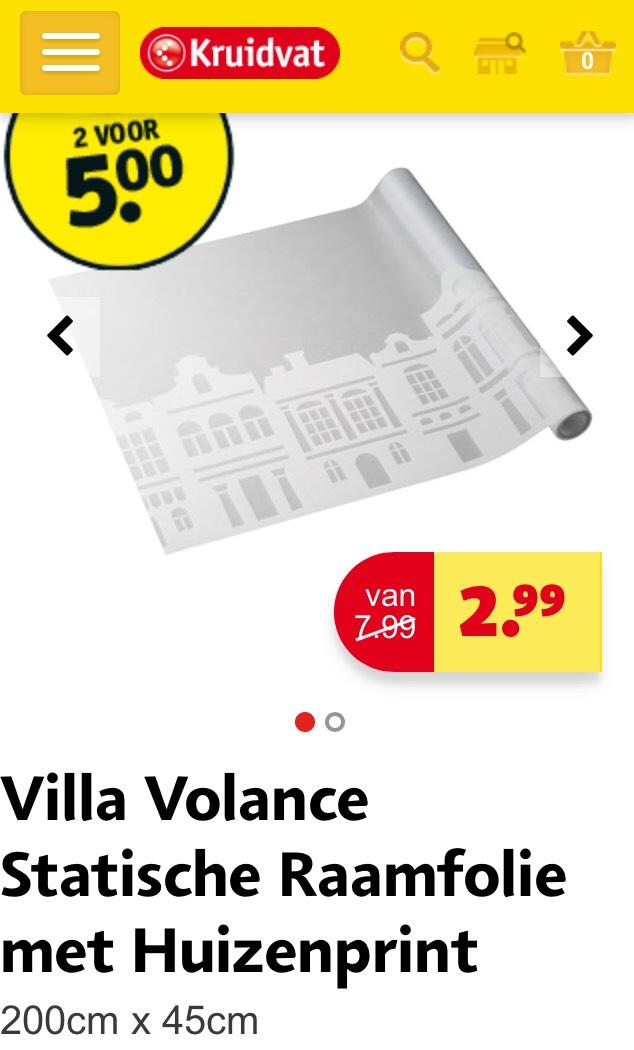 Villa Volance Statische Raamfolie