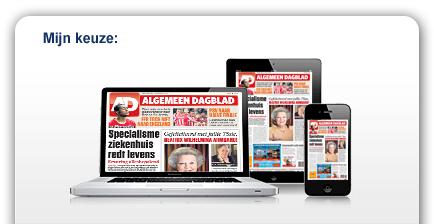 4 weken gratis digitaal het AD, de Volkskrant, Trouw of Het Parool