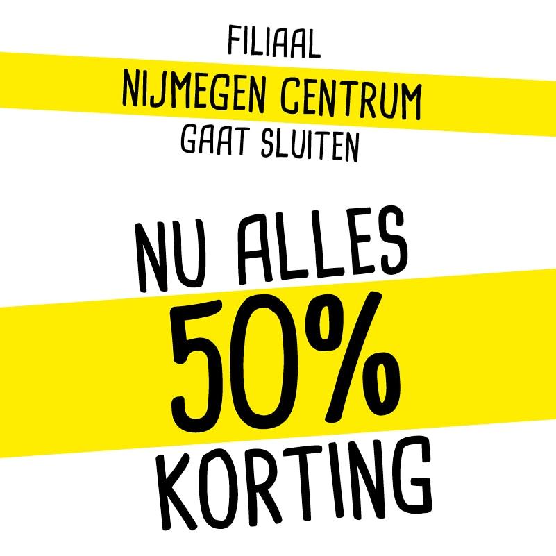 50% korting Xenos Nijmegen Centrum