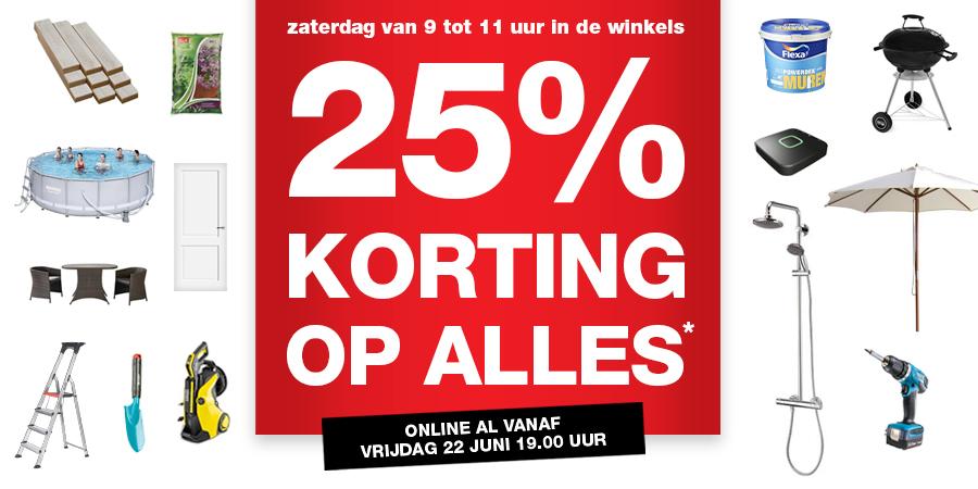 A.s. zaterdag 25% korting op alles* @ Praxis (online vanaf vrijdag)