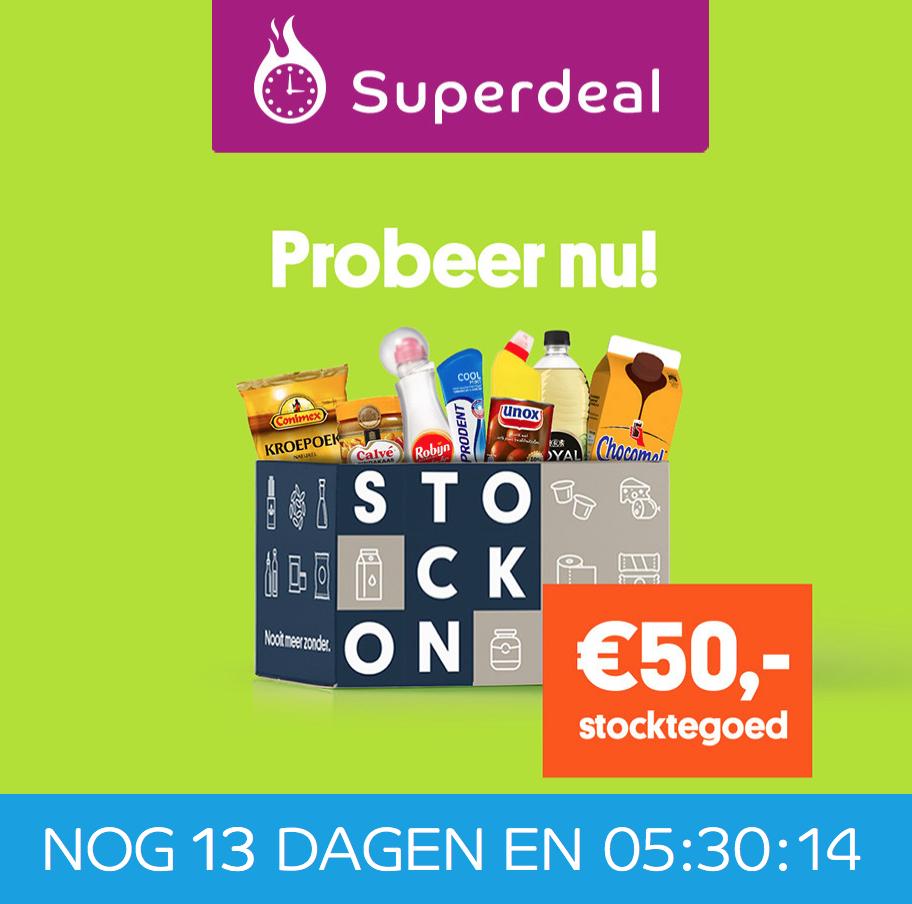 Eurosparen - 5 keer €10 korting op je boodschappen bij Stockon