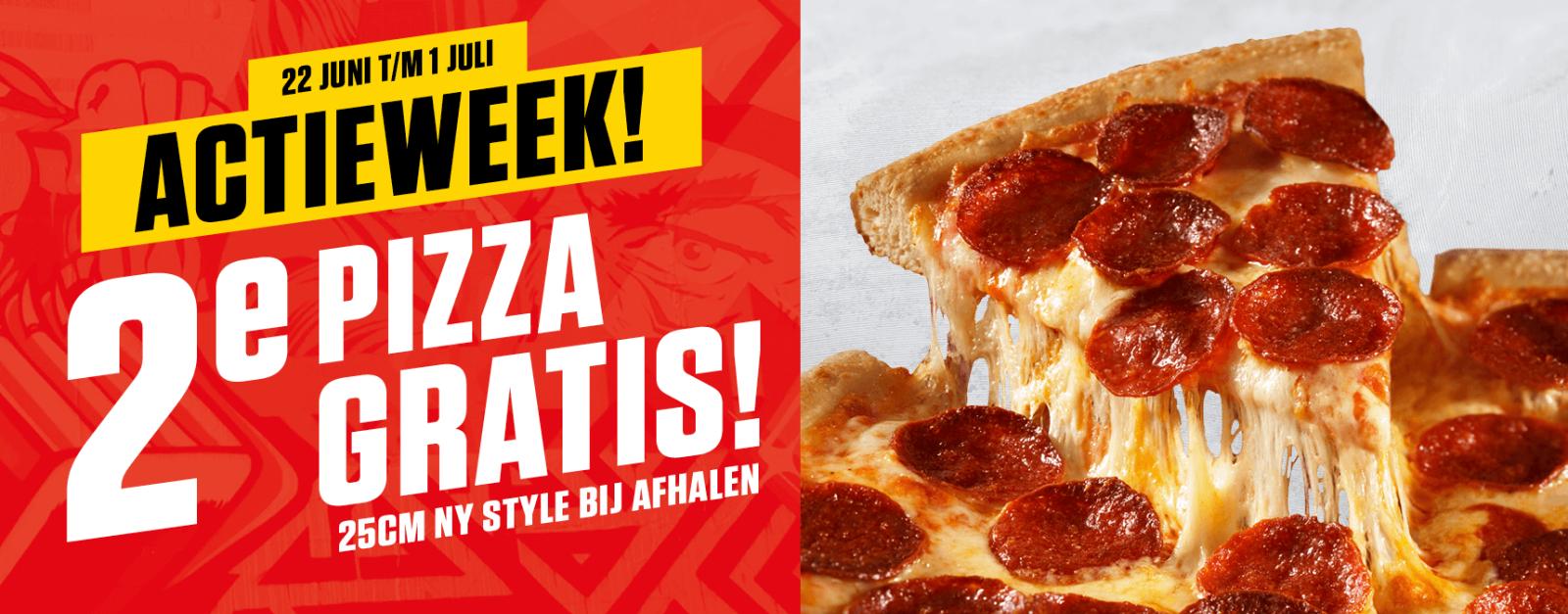 Actieweek: 2e Pizza gratis bij afhalen @ New York Pizza