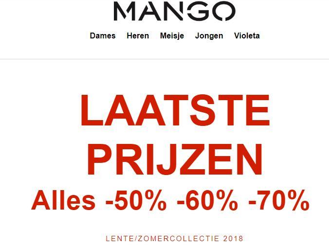 [KORTING VERHOOGD] Alle sale -50% // -60% // -70% @ MANGO