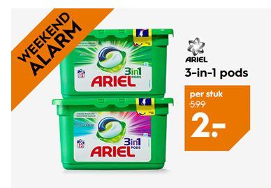Ariel pods - 12 stuks - €2 @ Blokker (winkels)