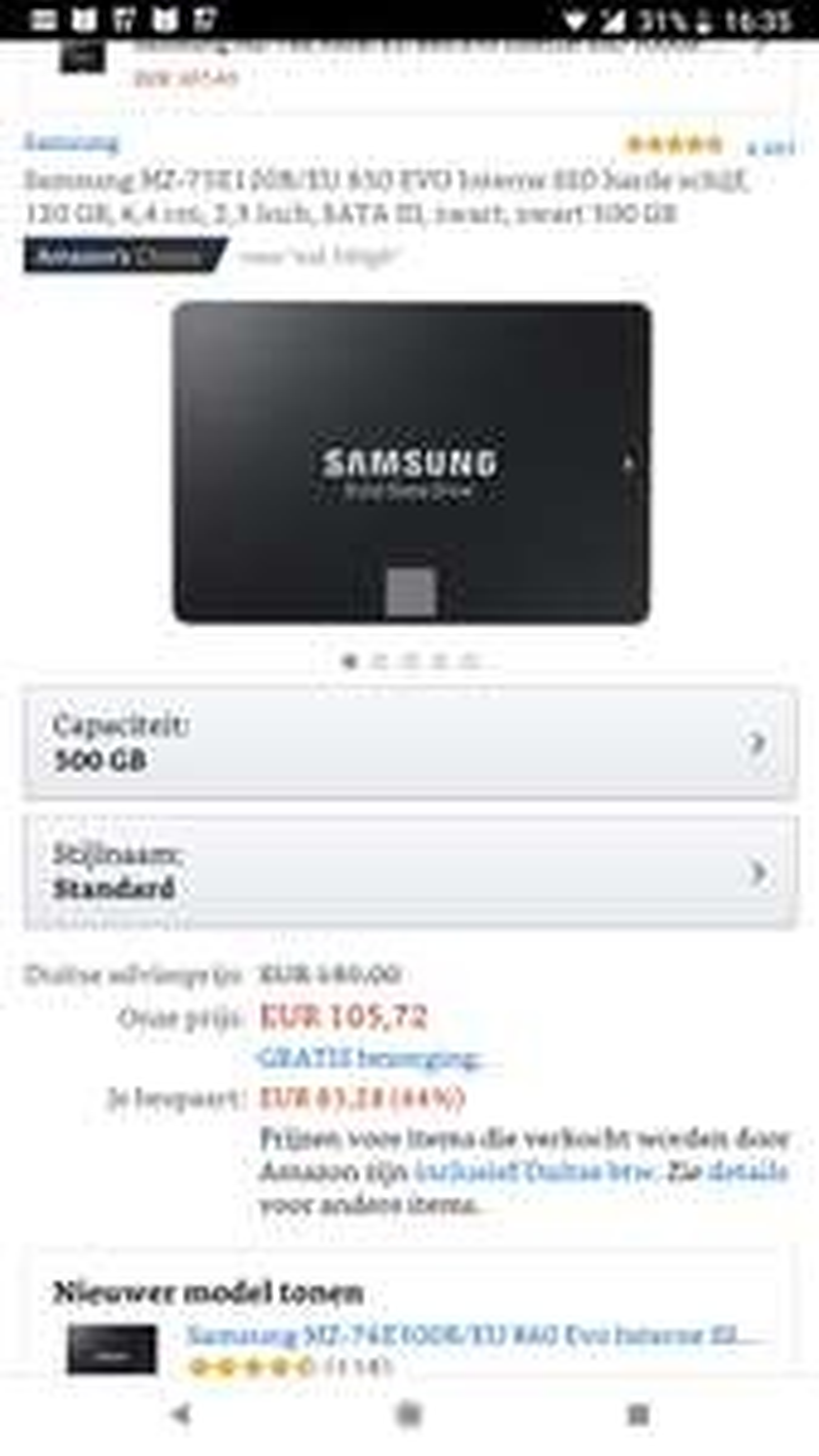 Samsung evo 850 ssd 500gb