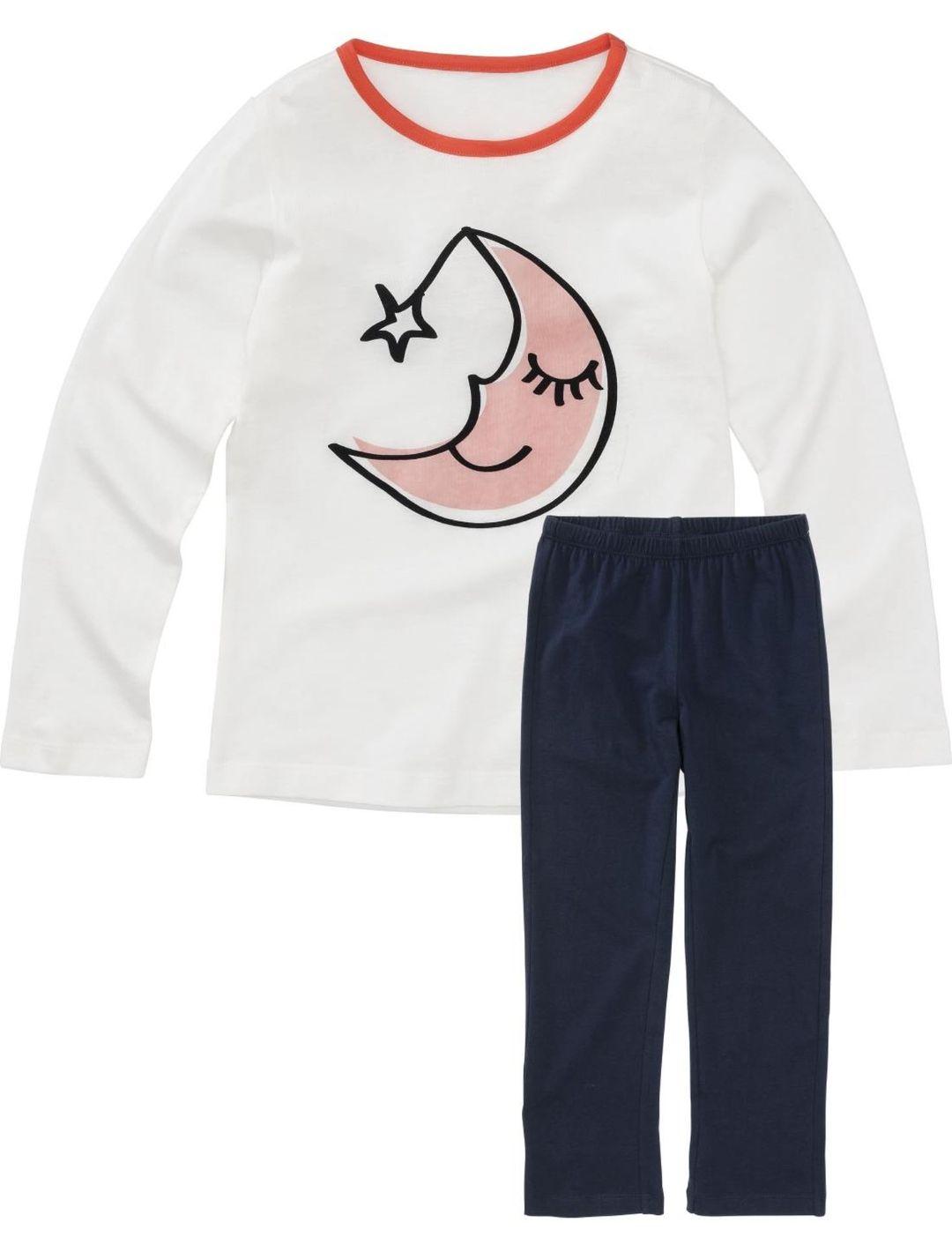 Kinderpyjama gebroken wit bij Hema